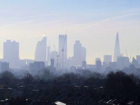 Smog over central London. Pic: David Holt/Flickr