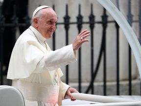 Pope Francis during his historic visit to Ireland