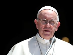 Pope Francis said the church had 'abandoned the little ones'