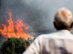 The Algarve is experiencing huge wildfires.