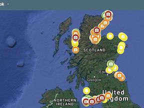 A map showing Scotland's litter hotspots along its coasts has launched. Pic: SCRAPbook