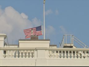 US flag flies at half mast folllowing McCain death