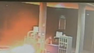 Man starts fire at petrol station in Italy as 'revenge for pump swallowing his cash the day before'.