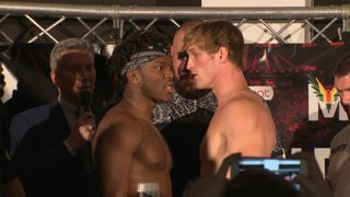 YouTube influencers KSI and Logan Paul face each other in an amateur boxing match in Manchester
