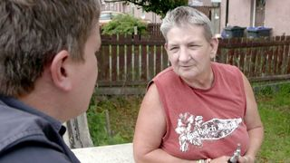 Sky's Nick Martin speaks to residents of a Braford street with one of te highest crime rates in the England.