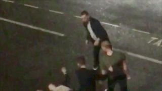 CCTV footage shows the moment the brawl broke out