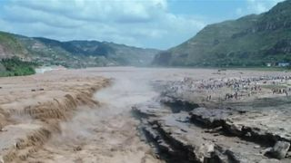 China's Hukou Waterfall flows with extra power thanks to heavy rain