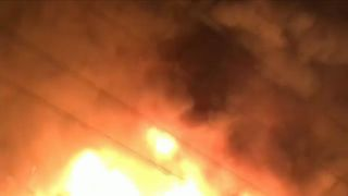 A construction site in Zurich explodes and burns