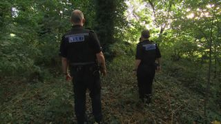 Sky's Katie Spencer joined officers from Cleveland Police following a break in at a local tennis centre