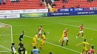 Football match stopped after crowd litters pitch with crisp wrappers