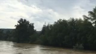 Flash floods produce some unusual scenes in southern France