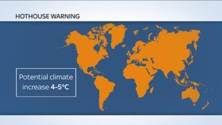 Average global temperature in the post-industrial age could rise by 5C(41F)