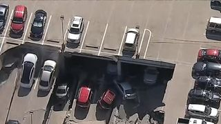 Section of multi-storey car park collapses in Texas