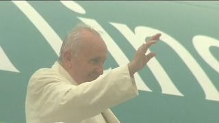 Pope Francis continues his visit to Ireland in County Mayo