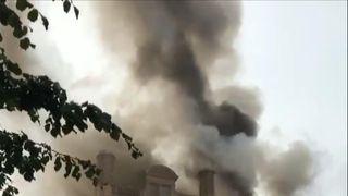 Fire breaks out above Belfast Primark building