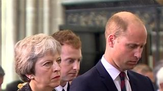 Prince William and Theresa May attend commemorative service marking the centenary of the Battle of Amiens