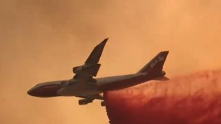 Air tankers deployed to combat wildfires in California