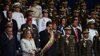 Venezuelan President Nicolas Maduro and his wife Cecilia