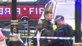 A man was held at the scene
