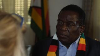 "Zimbabwe's President Emmerson Mnangagwa has told Sky News he has ""no problem"" with Robert Mugabe, and Britain is better when it has a female prime minister."
