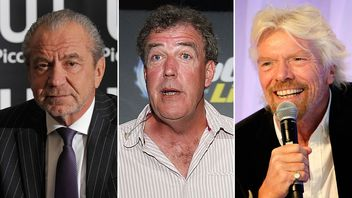 Alan Sugar, Jeremy Clarkson and Richard Branson