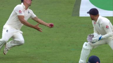 Cook takes stunner to remove Rahane