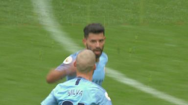 Aguero scores hat-trick as City net six