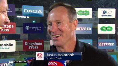 Holbrook: I'm a happy man