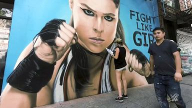 Rousey's graffiti mural time-lapse