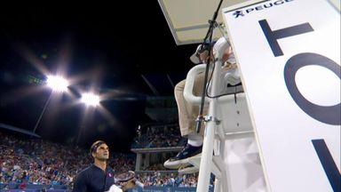 Rare Federer argument!