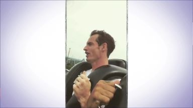 Andy Murray loses his cool on rollercoaster