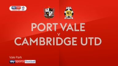 Port Vale 3-0 Cambridge