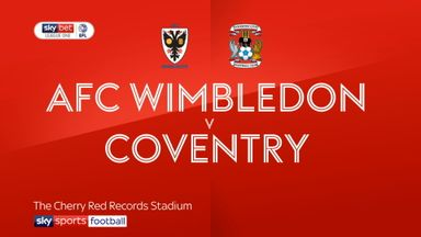 AFC Wimbledon 0-0 Coventry