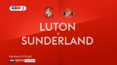 Luton 1-1 Sunderland