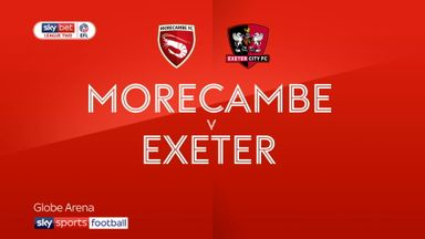 Morecambe 0-2 Exeter