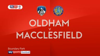 Oldham 3-1 Macclesfield
