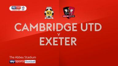 Cambridge Utd 0-2 Exeter