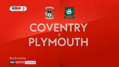 Coventry 1-0 Plymouth