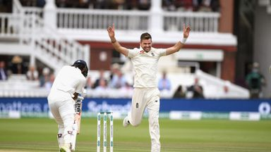 Anderson's 100th wicket at Lord's