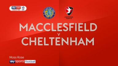 Macclesfield 1-1 Cheltenham