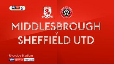 Middlesbrough 3-0 Sheffield Utd