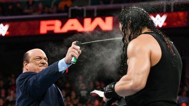 Heyman and Lesnar ambush Reigns