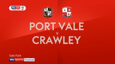 Port Vale 1-0 Crawley