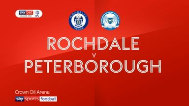Rochdale 1-4 Peterborough