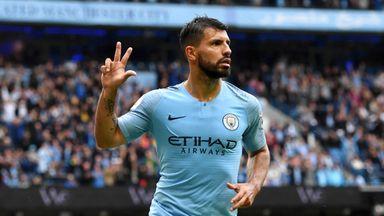 Aguero scores hat-trick as City net six