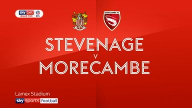 Stevenage 1-0 Morecambe