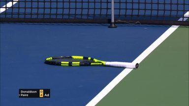Paire's racket blunder!