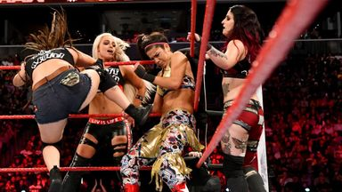 Banks, Bayley & Moon take on The Riott Squad