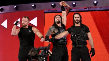 The Shield celebrate after Raw