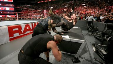 The Shield stop Strowman cashing in